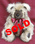 Cognac Raccoon Fur Teddy Bear