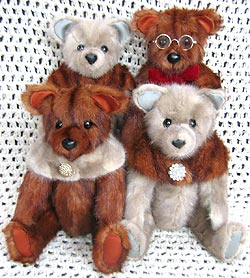 Mink combination group of teddy bears