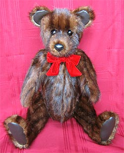 "24"" teddy bear made from Northern Muskrat Backs coat"