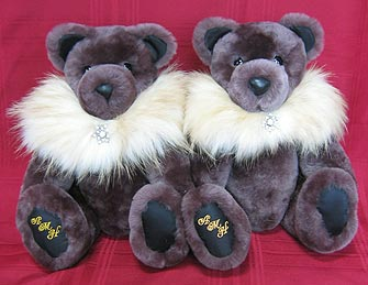 Mouton Lamb Fur teddy bears