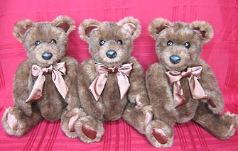 Faux Fur Teddy Bears