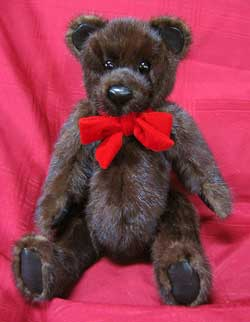 Natural Dark Ranch Mink Paw fur teddy bear