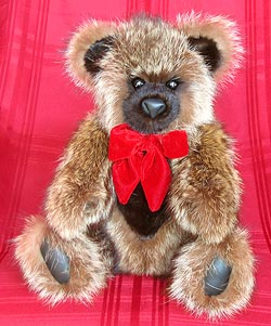 Full Skin Raccoon teddy bear with ranch mink snout, ears, and chest.