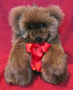 Brown Fox Fur Teddy Bear
