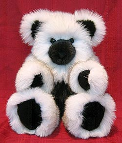 White Fox Fur Teddy Bear