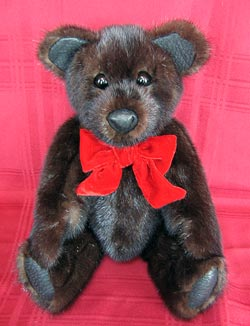 Natural Dark Ranch Mink Fur Teddy Bear
