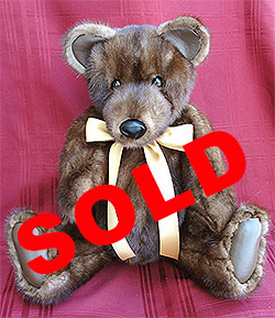 "Gold Series 24"" Lunaraine Mink Fur Teddy Bear"