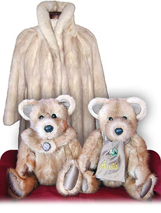 Stadler Fur Bears Heirloom Fur Teddy Bears Made from Fur Coats - Persian Lamb