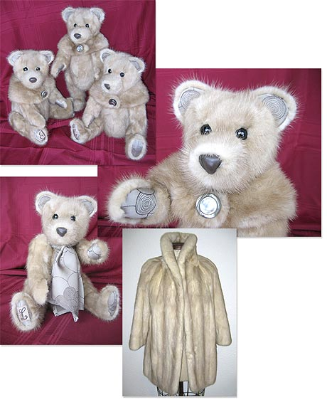 Mink Coat Value >> Heirloom teddy bears made from your fur coat.